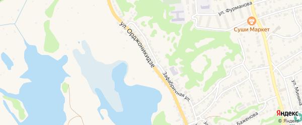 Улица Орджоникидзе на карте Городца с номерами домов