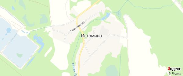 СНТ N9 Надежда на карте деревни Истомино Нижегородской области с номерами домов