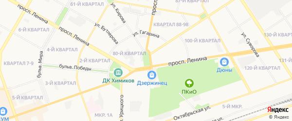 ГСК Буденновский-2-3 на карте Дзержинска с номерами домов