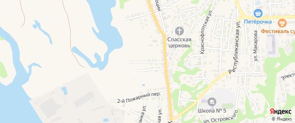 3-й Полянский переулок на карте Городца с номерами домов