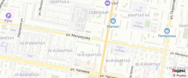 Улица Матросова на карте Дзержинска с номерами домов