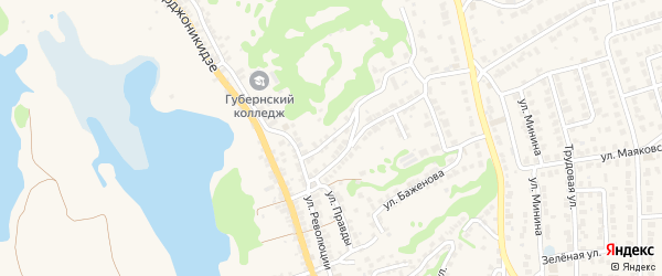 Переулок Революции на карте Городца с номерами домов