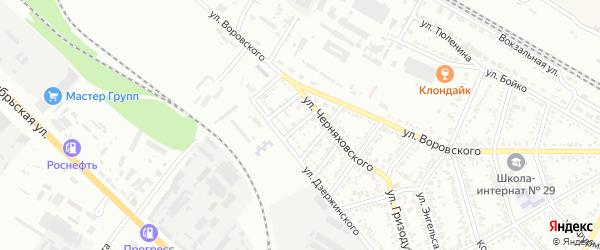 Урожайный переулок на карте Георгиевска с номерами домов
