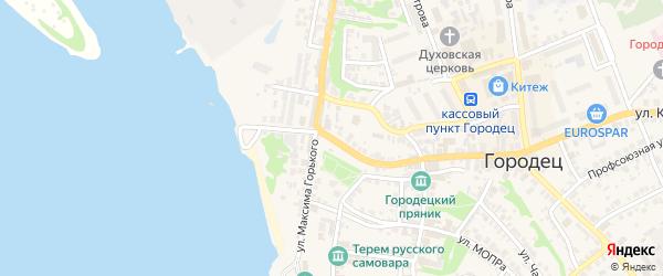 Улица Большой Кировский съезд на карте Городца с номерами домов