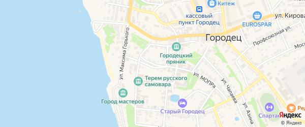 Переулок Шевченко на карте Городца с номерами домов