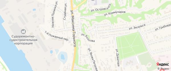 Улица Козлова на карте Городца с номерами домов