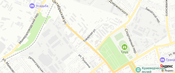 Товарная улица на карте Георгиевска с номерами домов