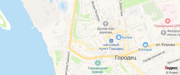 Улица Куйбышева на карте Городца с номерами домов