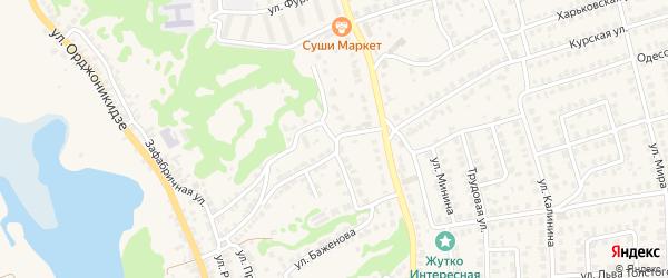 Улица Белинского на карте Городца с номерами домов