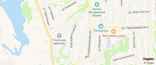 Улица Малая Долинка на карте Городца с номерами домов