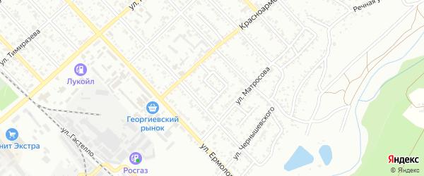 Кольцевой проезд на карте Георгиевска с номерами домов