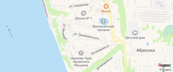 Улица Пржевальского на карте Городца с номерами домов