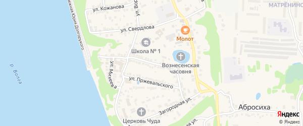 Кооперативная улица на карте Городца с номерами домов