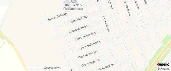 Цветочный переулок на карте Богородска с номерами домов