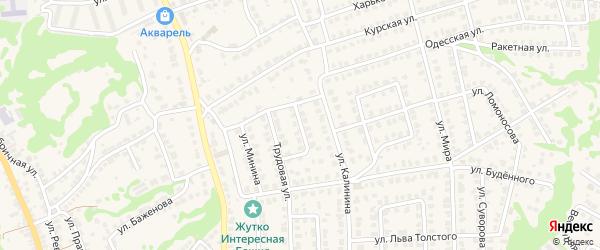 Улица Чехова на карте Городца с номерами домов