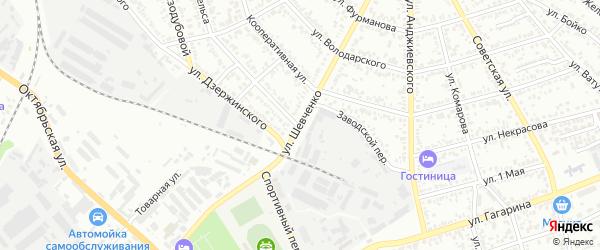 Улица Шевченко на карте Георгиевска с номерами домов