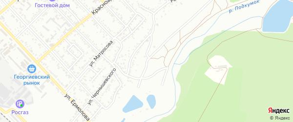 Набережная улица на карте Георгиевска с номерами домов