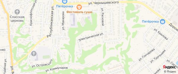 Электрическая улица на карте Городца с номерами домов