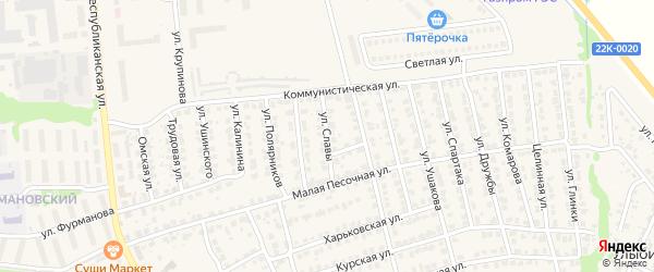 Улица Славы на карте Городца с номерами домов