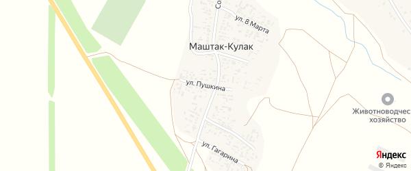 Улица Пушкина на карте аула Маштак-Кулака Ставропольского края с номерами домов