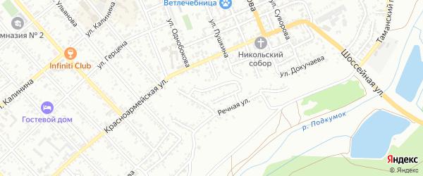 Южный переулок на карте Георгиевска с номерами домов