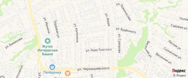 Улица Л.Чайкиной на карте Городца с номерами домов