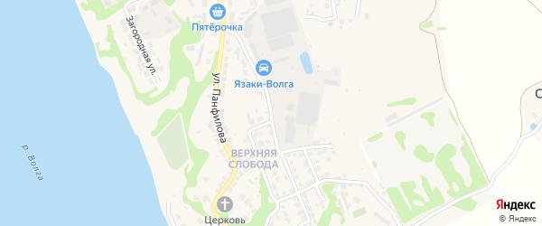 Улица Динамо на карте Городца с номерами домов