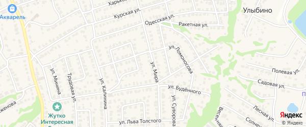 Улица Мира на карте Городца с номерами домов