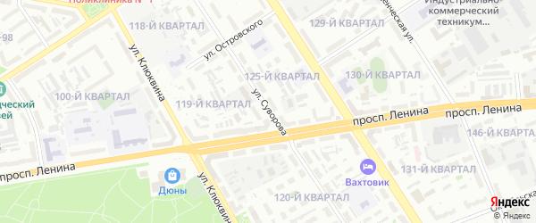 Улица Суворова на карте Дзержинска с номерами домов