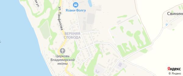 Улица И.Абаимова на карте Городца с номерами домов