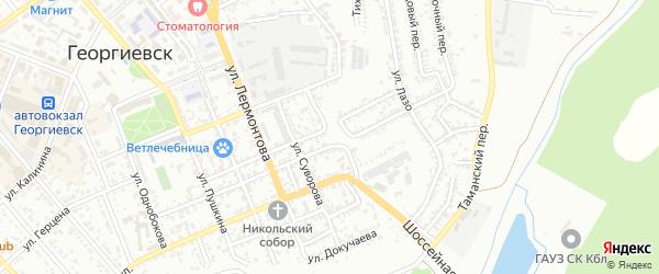 Улица Грибоедова на карте Георгиевска с номерами домов