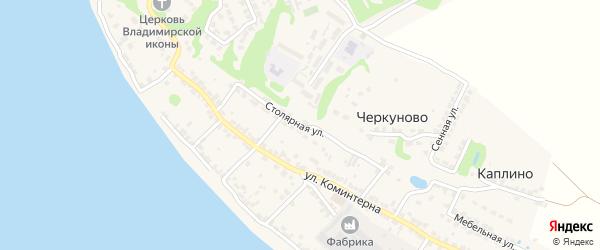 Столярная улица на карте Городца с номерами домов