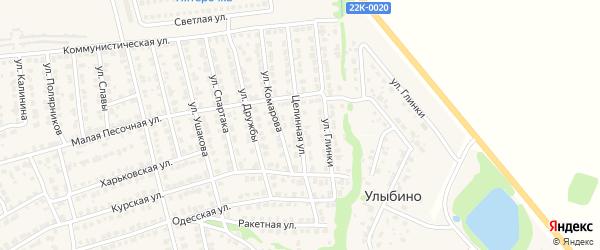 Целинная улица на карте Городца с номерами домов