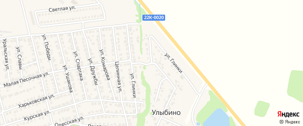 Улица Глинки на карте Городца с номерами домов