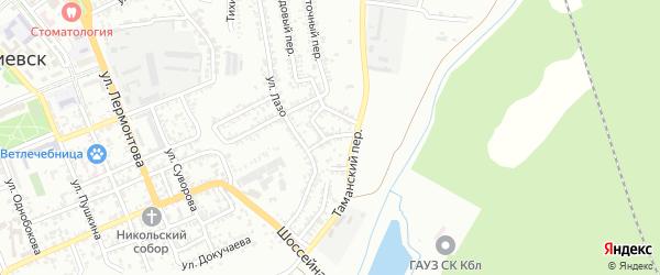Интернациональный переулок на карте Георгиевска с номерами домов