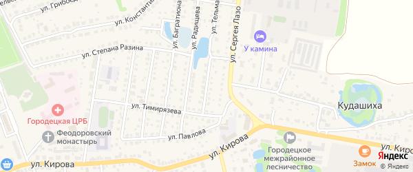 5-й Заводской переулок на карте Городца с номерами домов