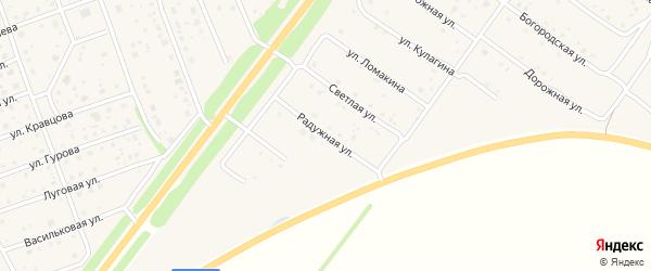 Радужная улица на карте Богородска с номерами домов