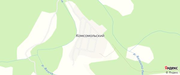 Карта Комсомольского поселка в Вологодской области с улицами и номерами домов