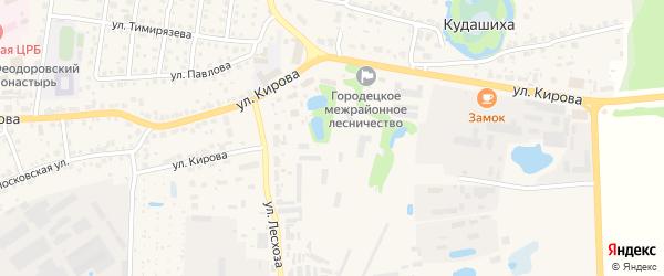 Улица Лесхоза на карте Городца с номерами домов