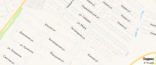 Загородная улица на карте Богородска с номерами домов