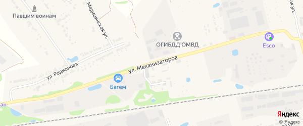 Улица Механизаторов на карте Богородска с номерами домов