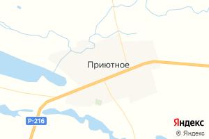 Карта с. Приютное Республика Калмыкия