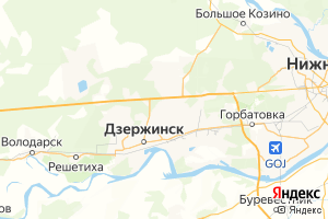 Карта г. Дзержинск Нижегородская область