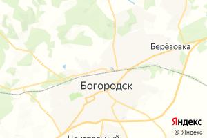 Карта г. Богородск Нижегородская область