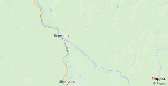 Карта Виноградовского района Архангельской области с городами и населенными пунктами