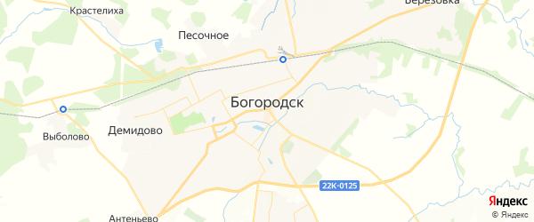 Карта Богородска с районами, улицами и номерами домов