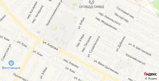 Переулок 9 Мая в Калаче-на-Дону с номерами домов на карте. Спутник и схема онлайн