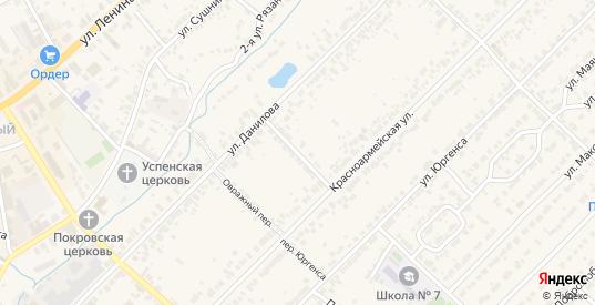 Переулок Данилова в Богородске с номерами домов на карте. Спутник и схема онлайн