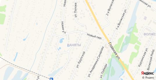 Новый переулок в Балахне с номерами домов на карте. Спутник и схема онлайн