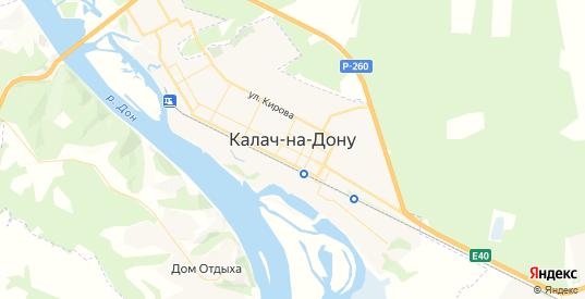 Карта Калача-на-Дону с улицами и домами подробная. Показать со спутника номера домов онлайн